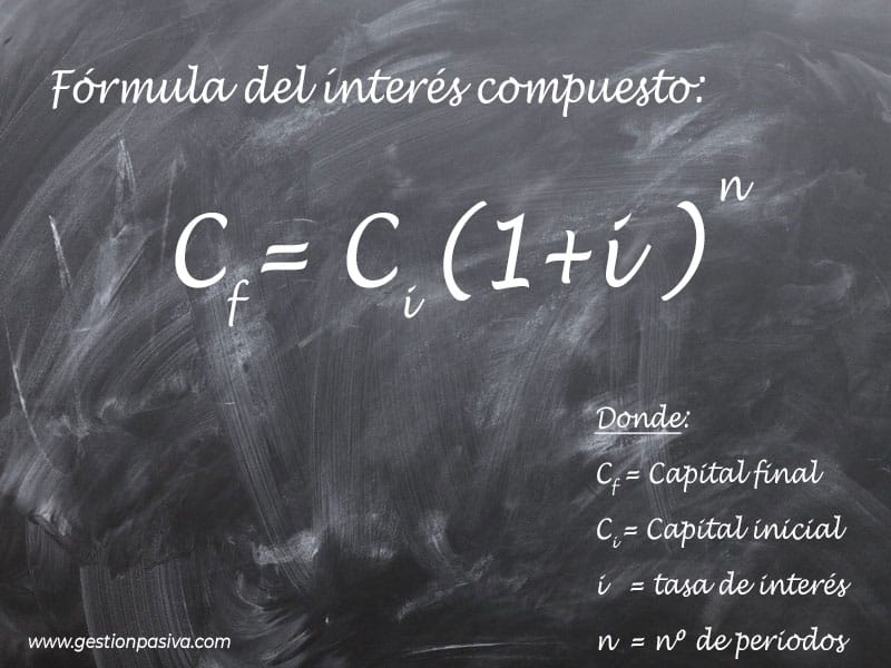 Fórmula del interés compuesto - gestionpasiva.com